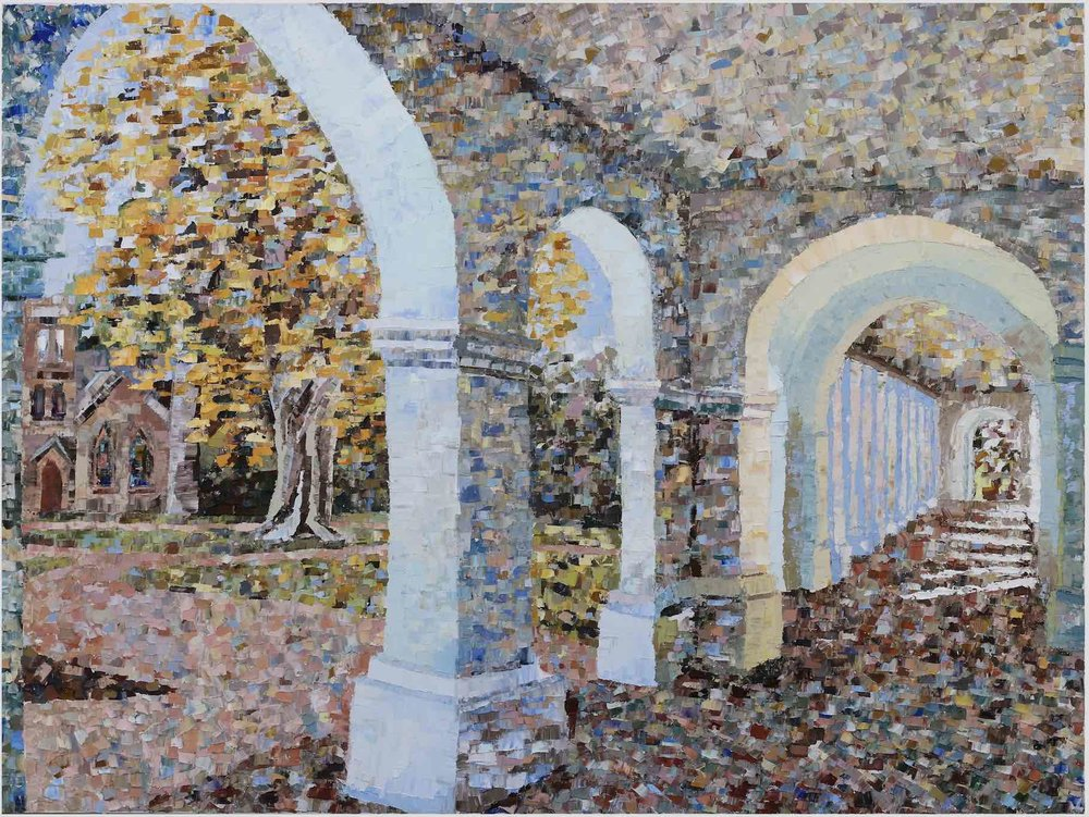 "Academical Village (IV) - 2019. oil on canvas. 30x40"".Charlottesville, Virginia."