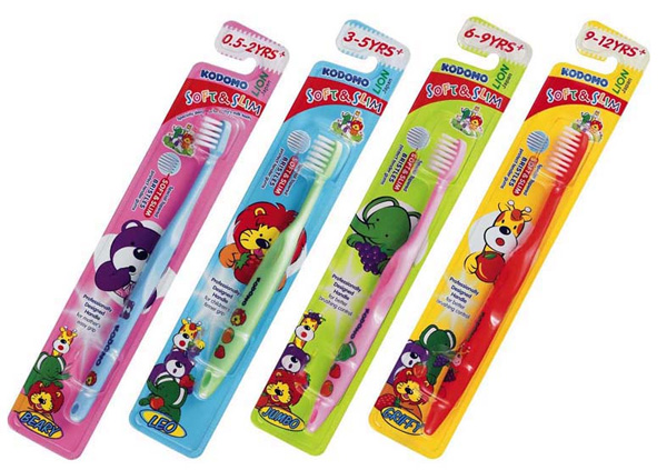 Kodomo Children's Soft and Slim Toothbrush: $3 each / 4 for $10