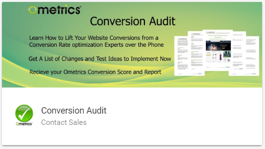 We audit websites and landing pages to identify conversion problems.