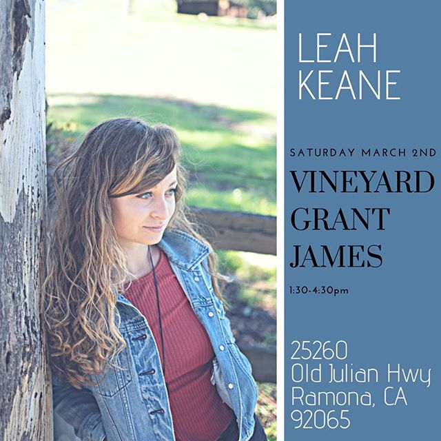 One of my favorite places to perform ❤️ Would love to see you on Saturday! Highly recommend Vineyard Grant James- it's the perfect escape from the city and their wine is 👌🙌👍❤️ - - - Thank you @shinpaughphoto for the great pic 😘  #sandiegomusic#sandiegomusicevents#gig#folkmusic#originalsong#originalmusic#performance#winesaturday#acousticmusic#guitar#ukulele#singersongwriter#femalesingersongwriter#musicianlife#musicianslife#musicatwineries#vineyardgrantjames#ramona#california#goodtimes