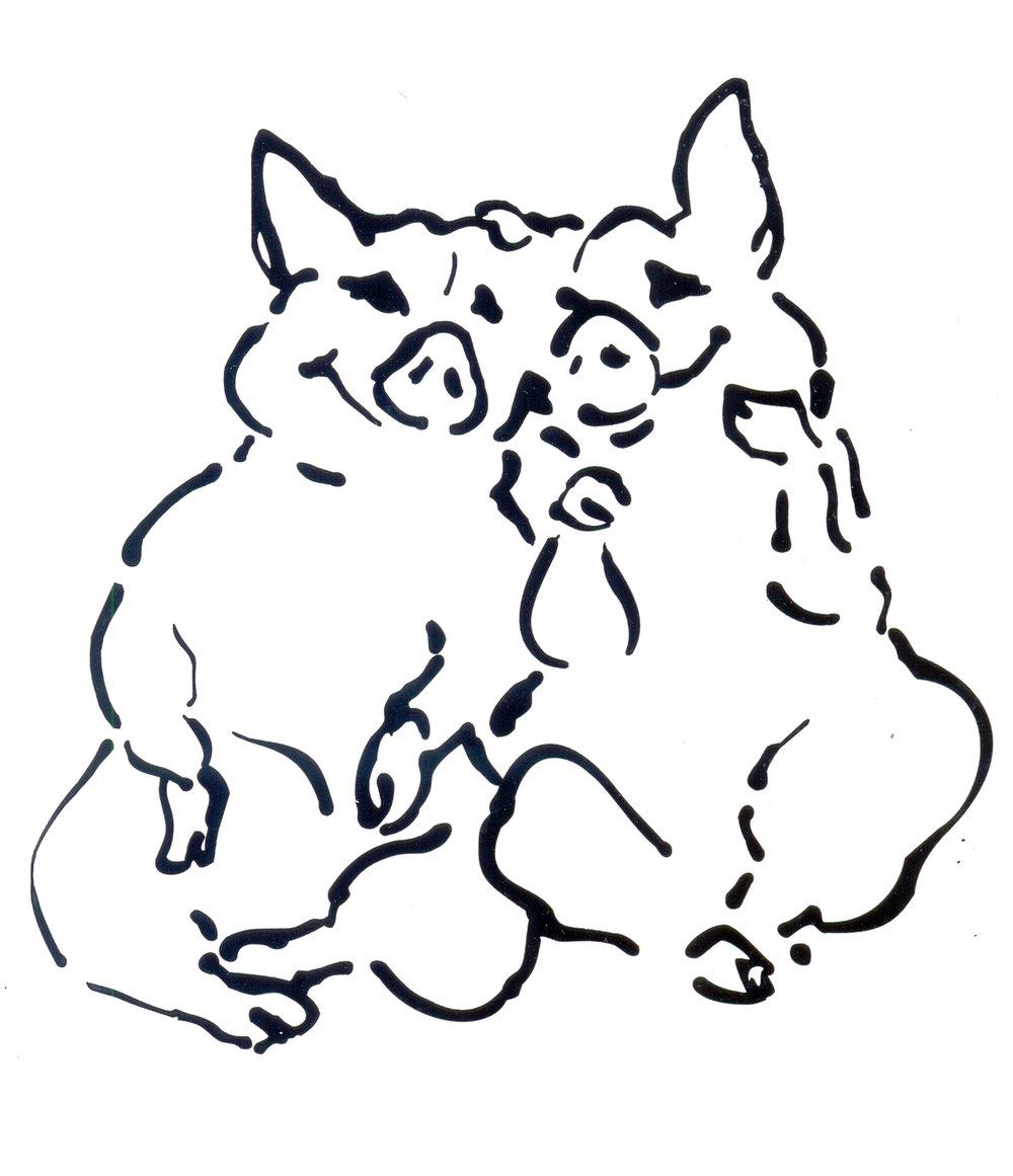 JORGE & LUISA. 2 PIGS.jpg