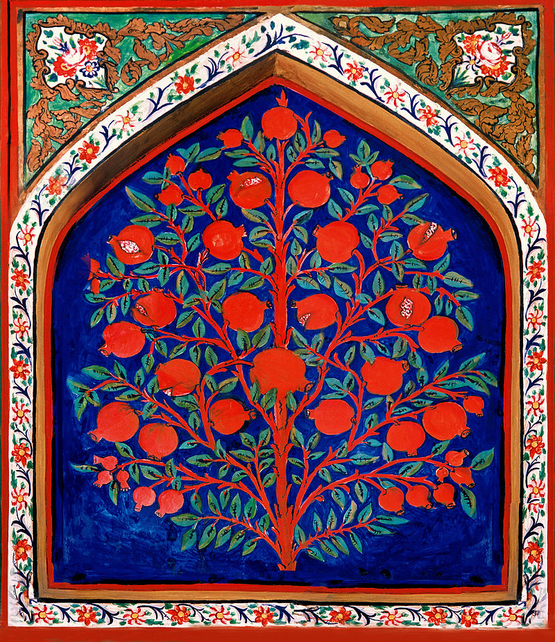 17th-century depiction of the Tree of Life, from the Palace of Shaki Khans, Azerbajian.