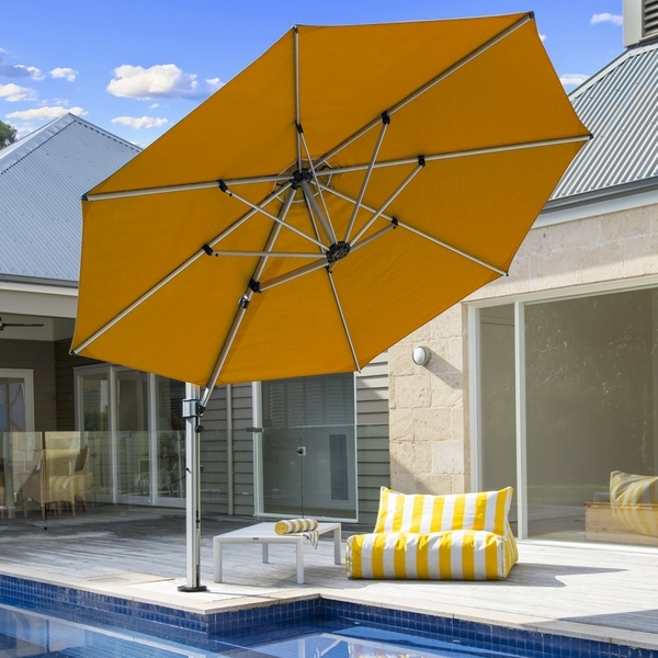 Canopy - -Water repellent 100% Solution Dyed Olefin Canvas.-3 year warranty against fading.-98.75% UV resistant (UPF80)Standard colours Natural, Slate, Smoked Tweed & BlackOther colours available to order (Acrylic Canvas)