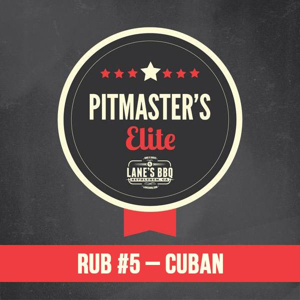 PITMASTER'S Elite Rub #5 Cuban $25.00