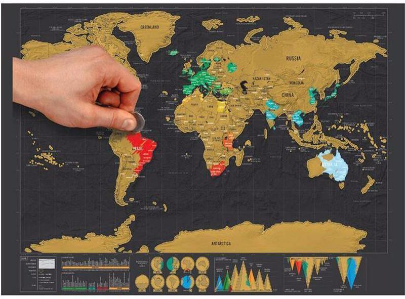 Scratch Off World Map Scratch off World Map — WanderRoam