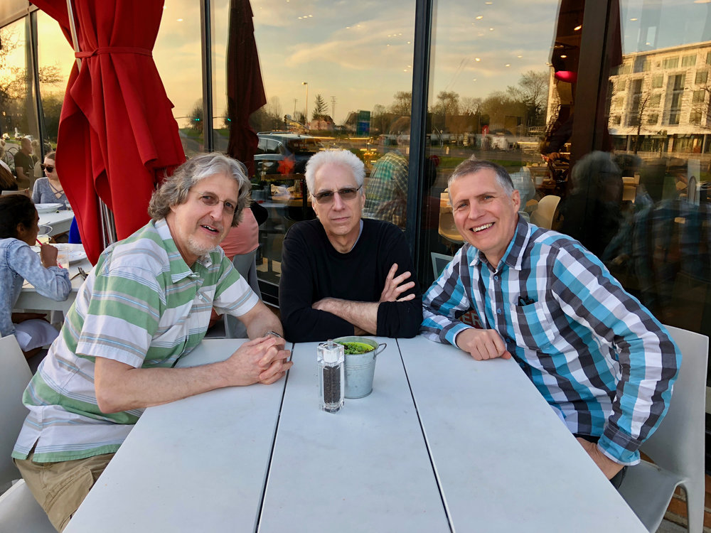 Steve, Rik and Todd after a recording session. St. Louis Park, May 4, 2018  Photo by Yum! wait staff