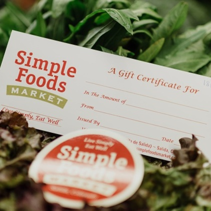 A SIMPLE GIFT - We offer gift certificates in any denomination. Stop by the store to pick one up today.