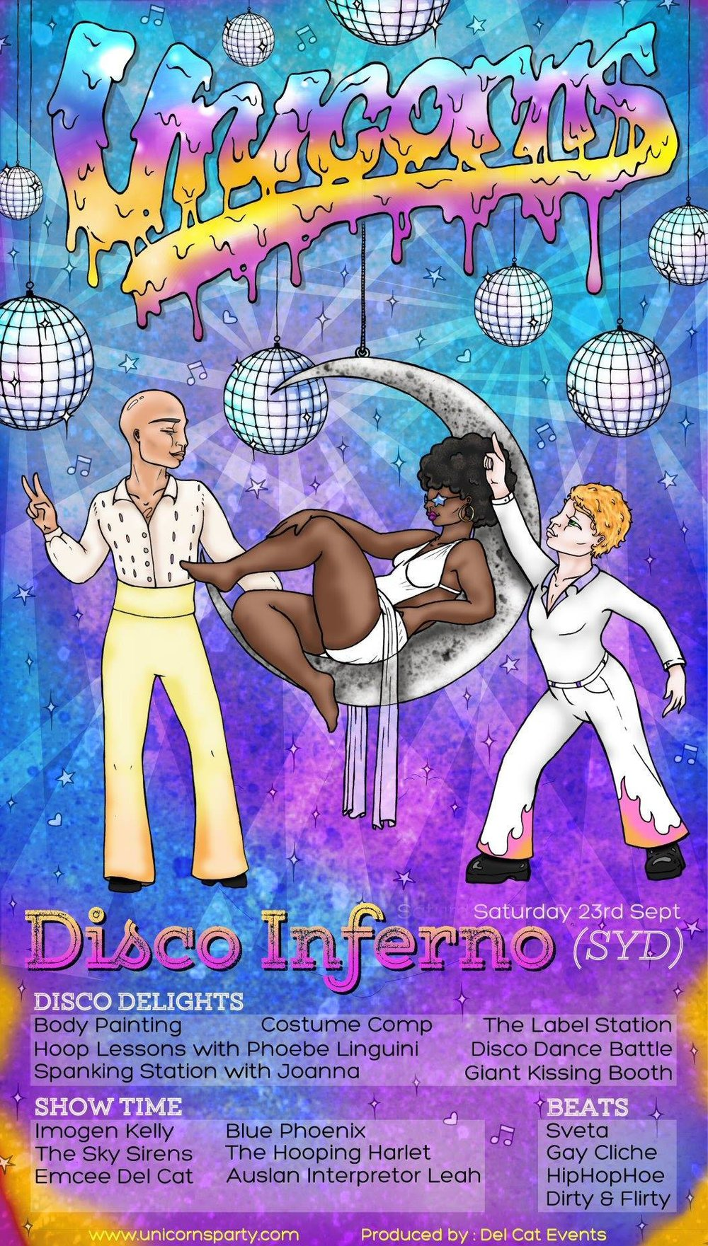 Unicorns - Disco Inferno (SYD) - Saturday 23 September 2017The Red Rattler8pm - 3amSOLD OUT