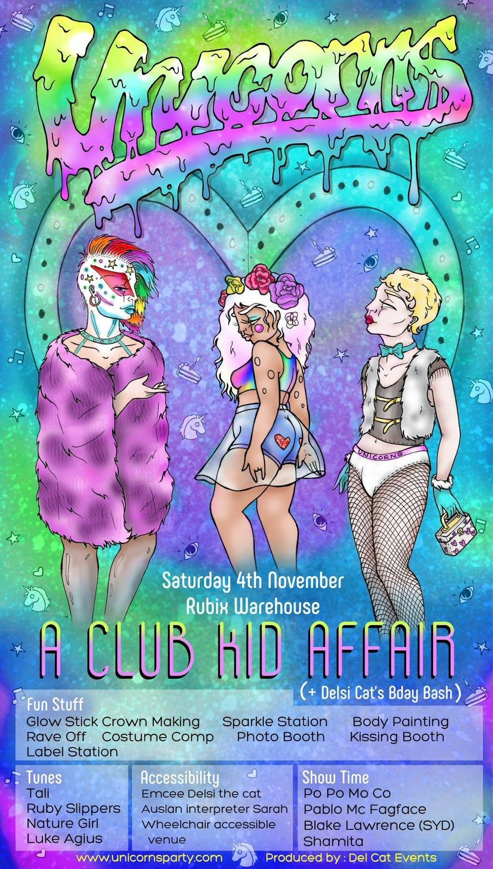 Unicorns - A Club Kid Affair (MELB) - Saturday 4 November 2017Rubix Warehouse8pm - 3amSOLD OUT