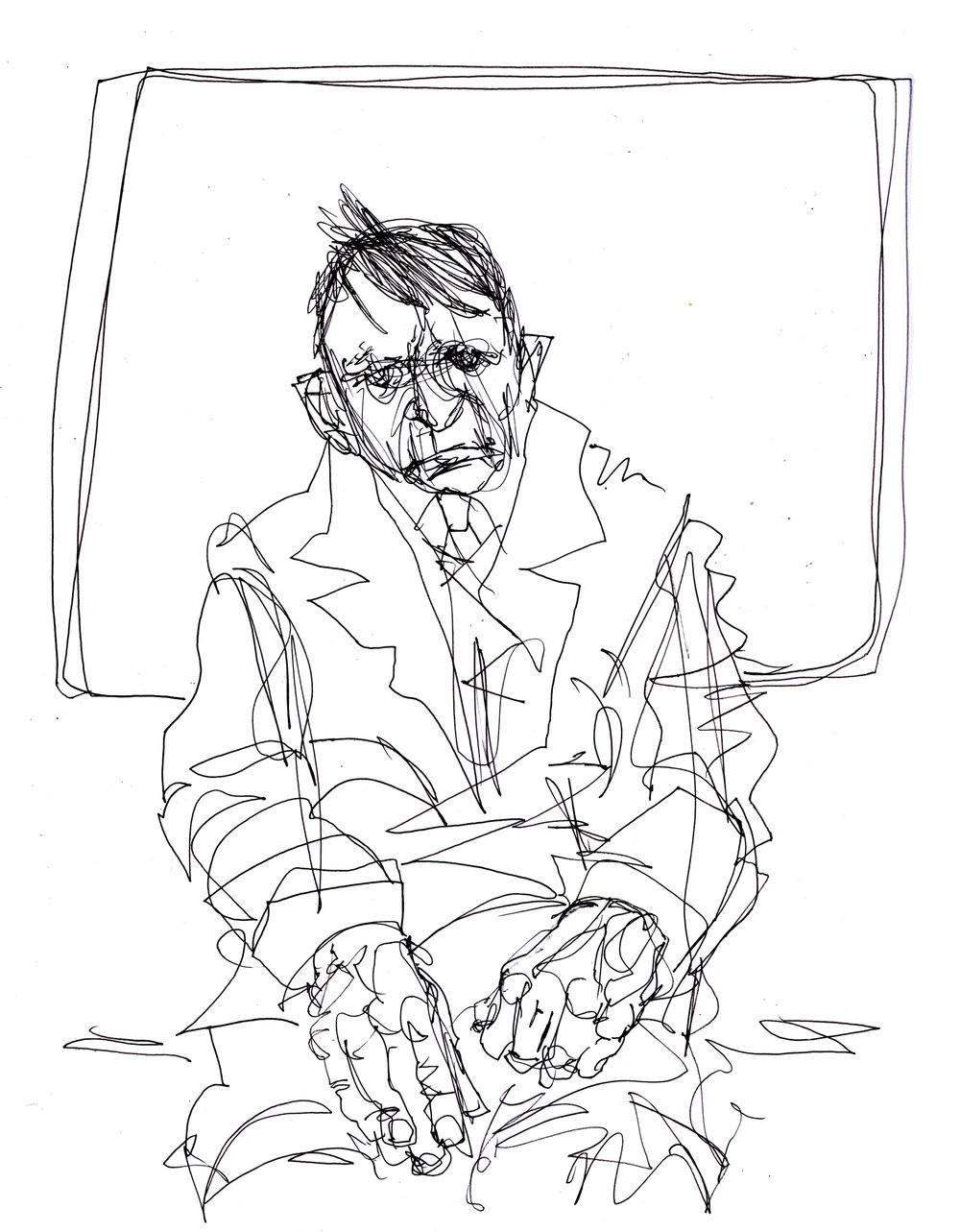 Man on Tube