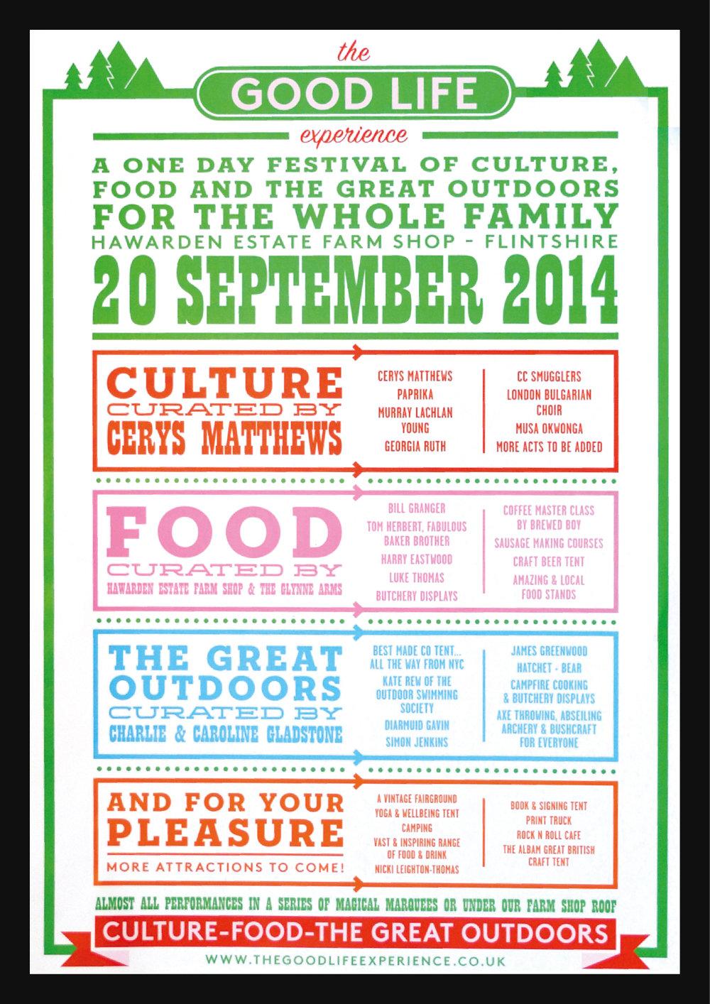 TGLE 2014 lineup poster