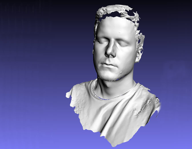 Oliver Laric – 3d scanned portrait