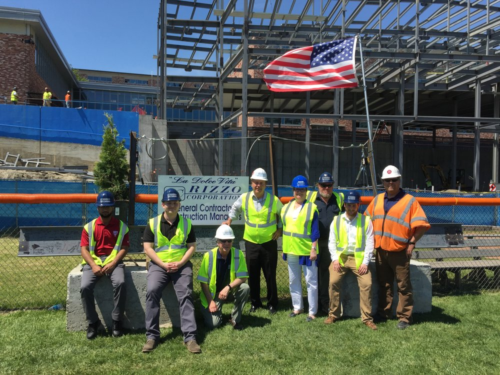 Final Beam Placed in Phase 4 of Danbury High School