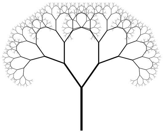 Fractal art of a tree