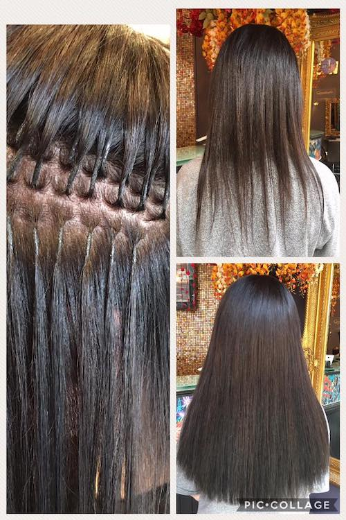 Before, During & After — Half head Great Lengths Extensions in 40 cm By Sorina
