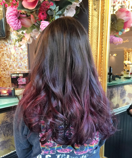Red ombré by Joan