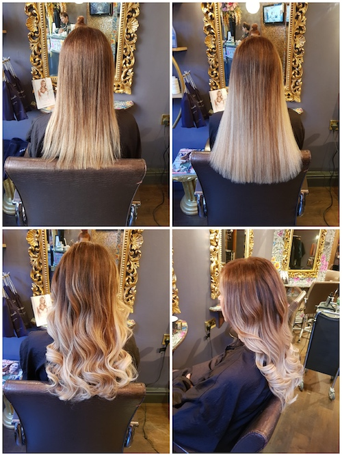 Before, During & After — Great Lengths Extensions with Balayage by Louise (70 pieces of 40cm)