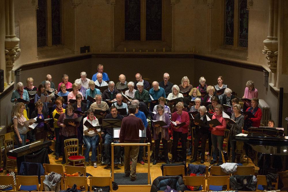 Northern Lights dress rehearsal in the Old Chapel, St. John's School - November 2017