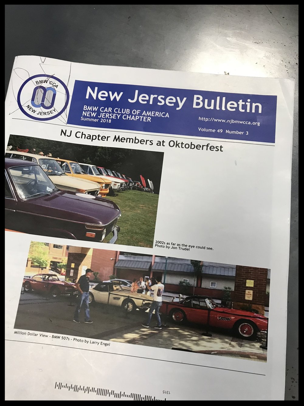 This is a magazine for a BMW enthusiast the BMW Car Club. The NJ chapter featured an ad for the client that I created.