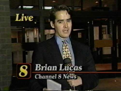 A screen shot from my very first live shot as a reporter in La Crosse, Wisconsin. It was a rather inauspicious debut. Luckily, it got better as I learned to stop striving for perfection and instead focus on the story I was trying to tell.