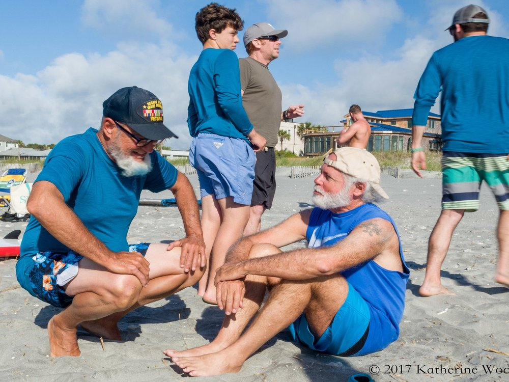COMMUNITY - WSF is a supportive community of Veterans and their families. We easily empathize with and understand one another. Not only do we enjoy sharing stories, we enjoy making memories as well. Many people come for our surf clinics, but they stick around for the tribe.