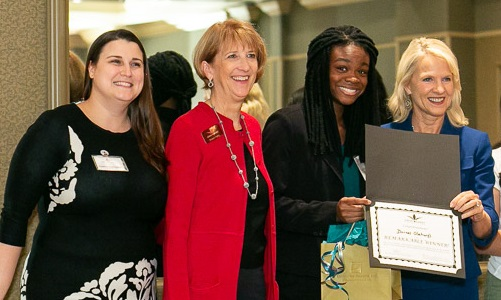 Pauline Tartaglia, Sharon Kelly Hake, Dorcas Olatunji and Lt. Governor Bethany Hall-Long