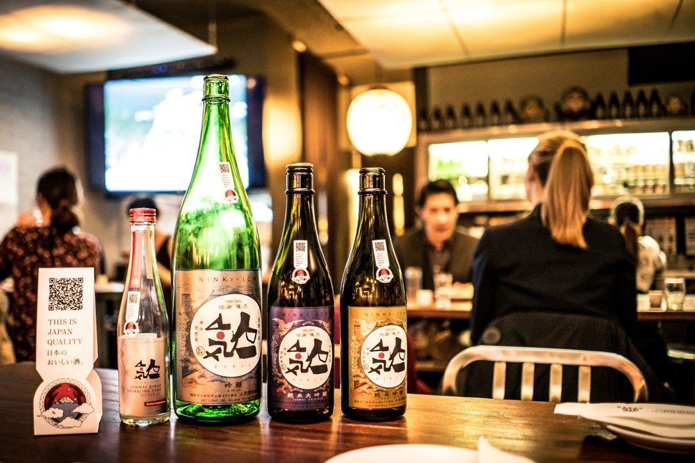 Japan Quality. Ninki Ichi's outstanding line of Fukushima Sake from a recent event at Azasu.