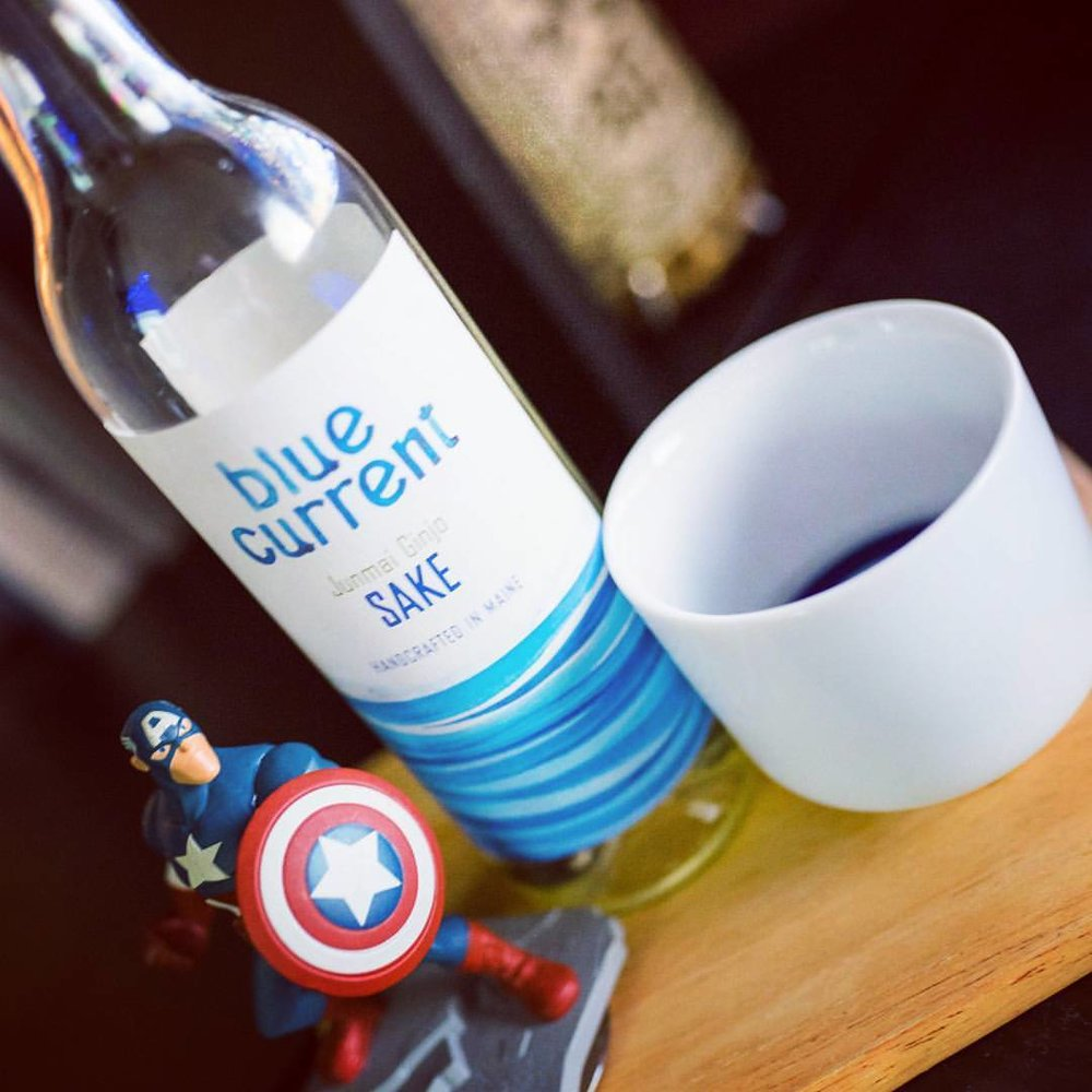 Taking Blue Current Brewery's Junmai Ginjo for a ride. Smooth yet complex with a fruity finish, this is a wonderful domestic sake. #kampai #sake #domesticsake #americansake #captainamerica #アメリカン酒