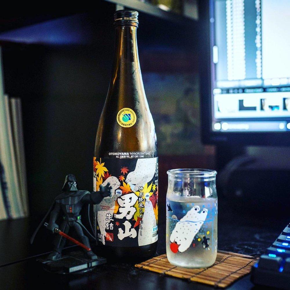 Election got you down? We found Otokoyama Hiyaoroshi Kimoto Junmai to be the perfect distraction!   #adorableseals  #sake  #otokoyama  #hiyaoroshi  #hokkaido  #hokkaidosake  #kimoto  #itsnotover  #vader  #日本酒  #男山  #北海道  #純米  #decision2016