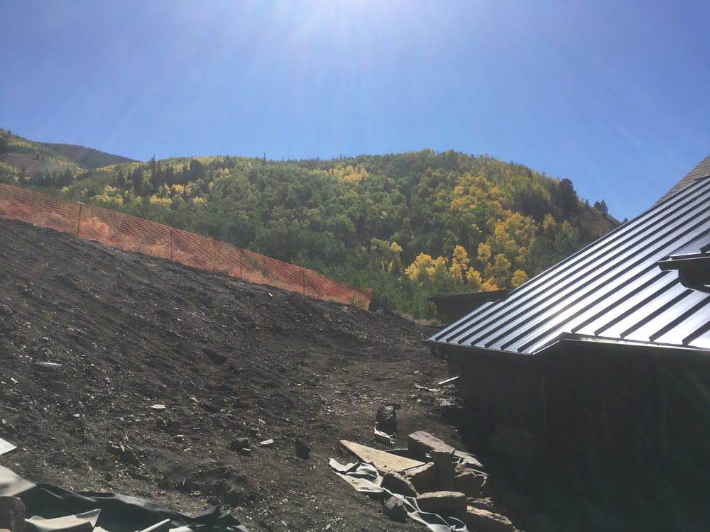 The aspens are just starting to change