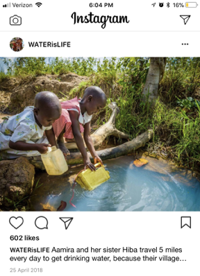 transparency - Full text: Aamira and her sister Hiba travel 5 miles every day to get drinking water, because their village does not have a well. $2000 will allow us to install a Sun Spring water system. Click the link in bio to contribute $5 or $10 to bring clean water to Aamira, Hiba and their village! #enditnow.