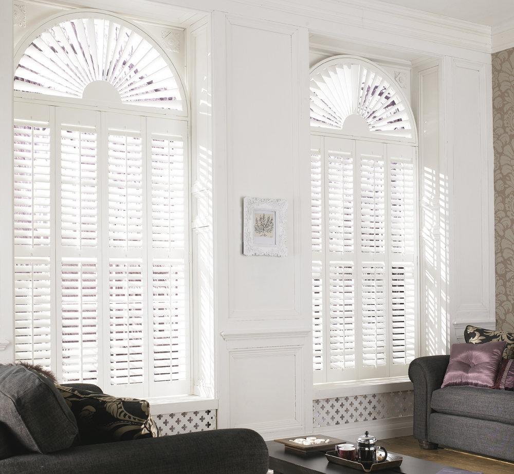 Arched windows in Pure White