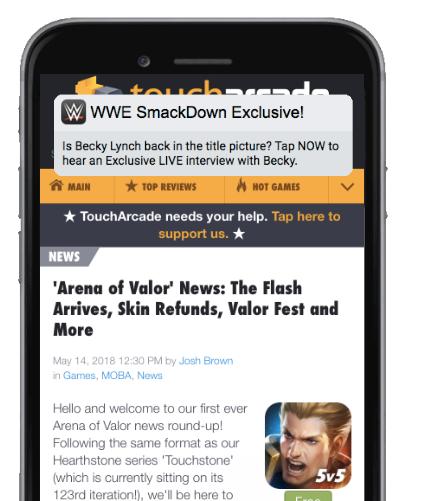 WWE Content Awareness