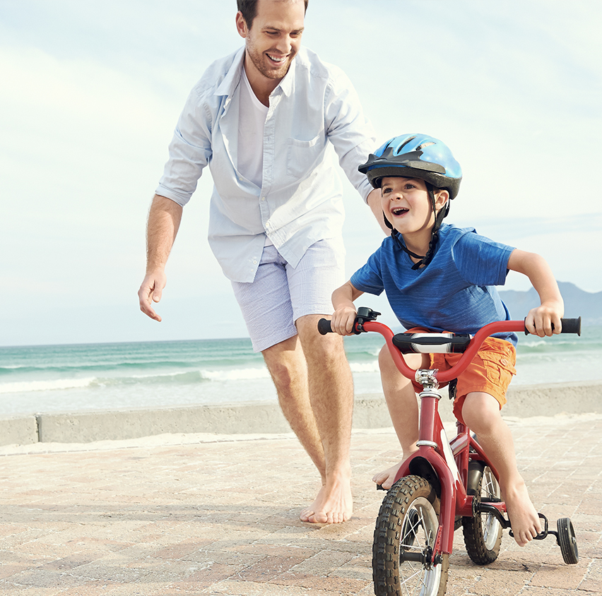 Dad and Son, Healthy Lifestyle