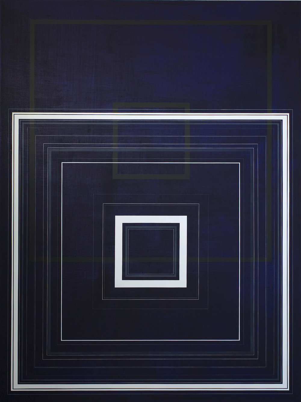 Black Blue and Square, 2009, 80x60