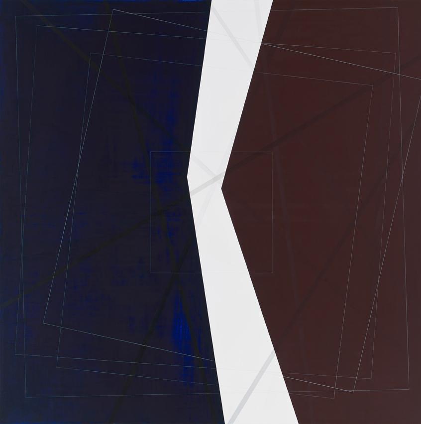 White Divided, 2009, 70x70