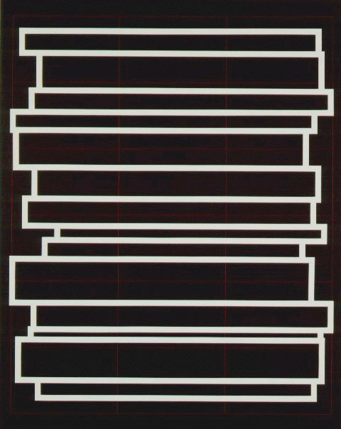 Stacked White, 1996, 70x56