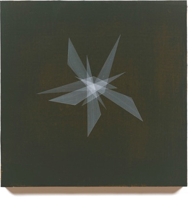 Form Study (spare white on dark brown), 2013, 16x16