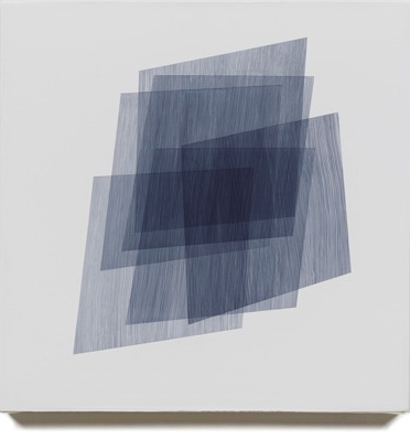 Form Study (blue/purple/black on white), 2012, 16x16