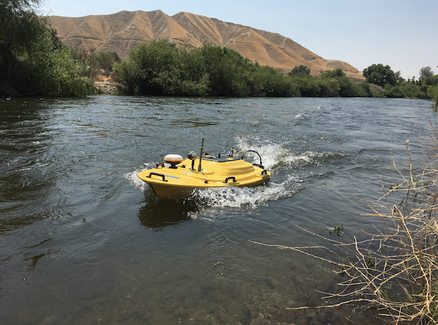 Autonomous Surface Vehicle (ASV) used for River Mapping