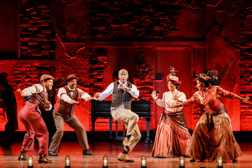 Douglas Lyons as Coalhouse Walker, Jr. and company in Ragtime - Photo Credit Mark Kitaoka.jpg