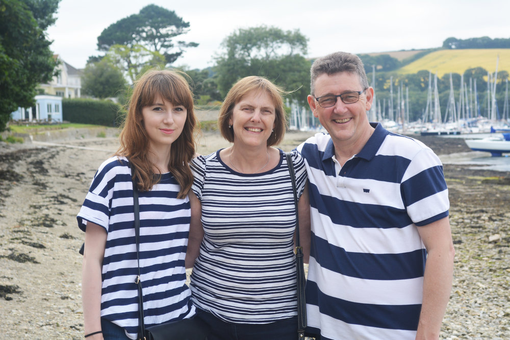 Me on the left. Oh yeah, I have a thing for breton stripes and apparently its hereditary