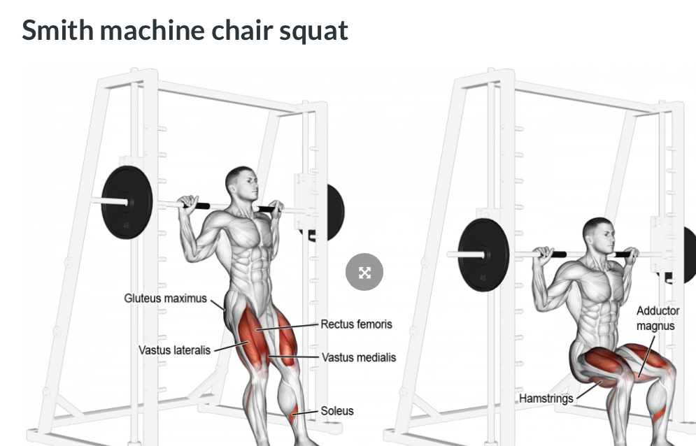 Be sure not to allow the knee to travel beyond the toes when in squatted position/