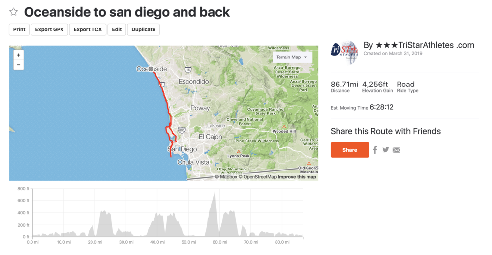 Oceanside bike to San Diego and back - Long ride day