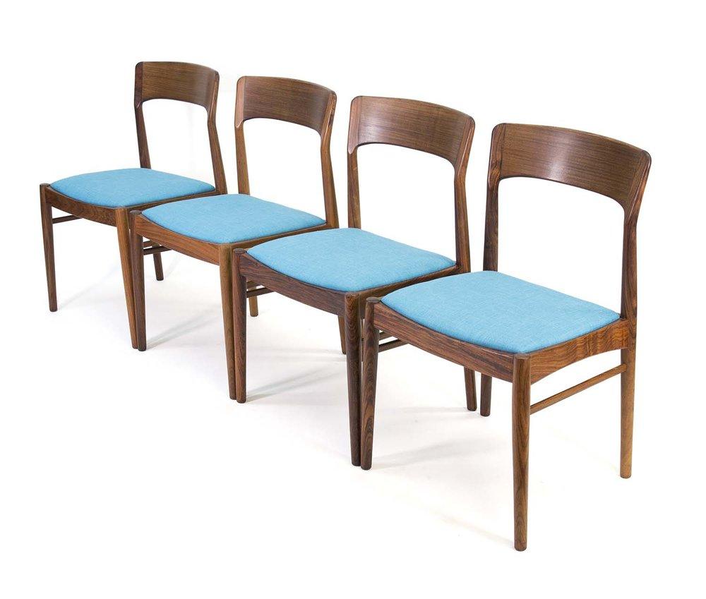 KAI KRISTIANSEN For KS Mobler Rosewood Dining Chairs