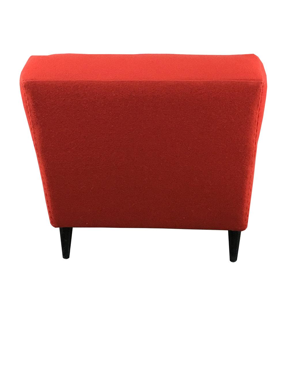 PAUL MCCOBB Planner Group Red Button Tufted Club Chair