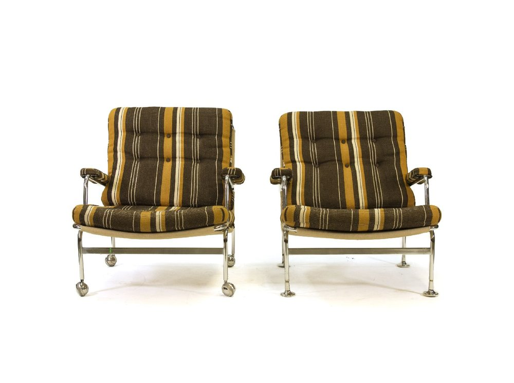 Pair of Karin Chairs by Bruno Mathsson for Dux