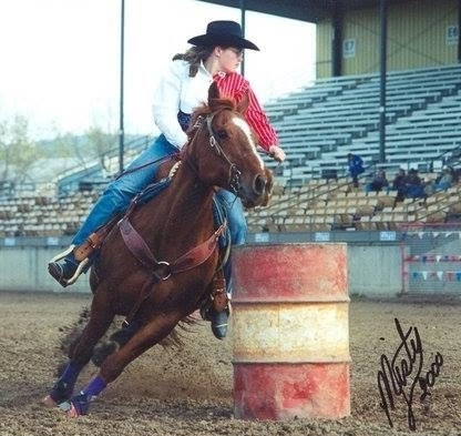 Me running barrels a long time ago