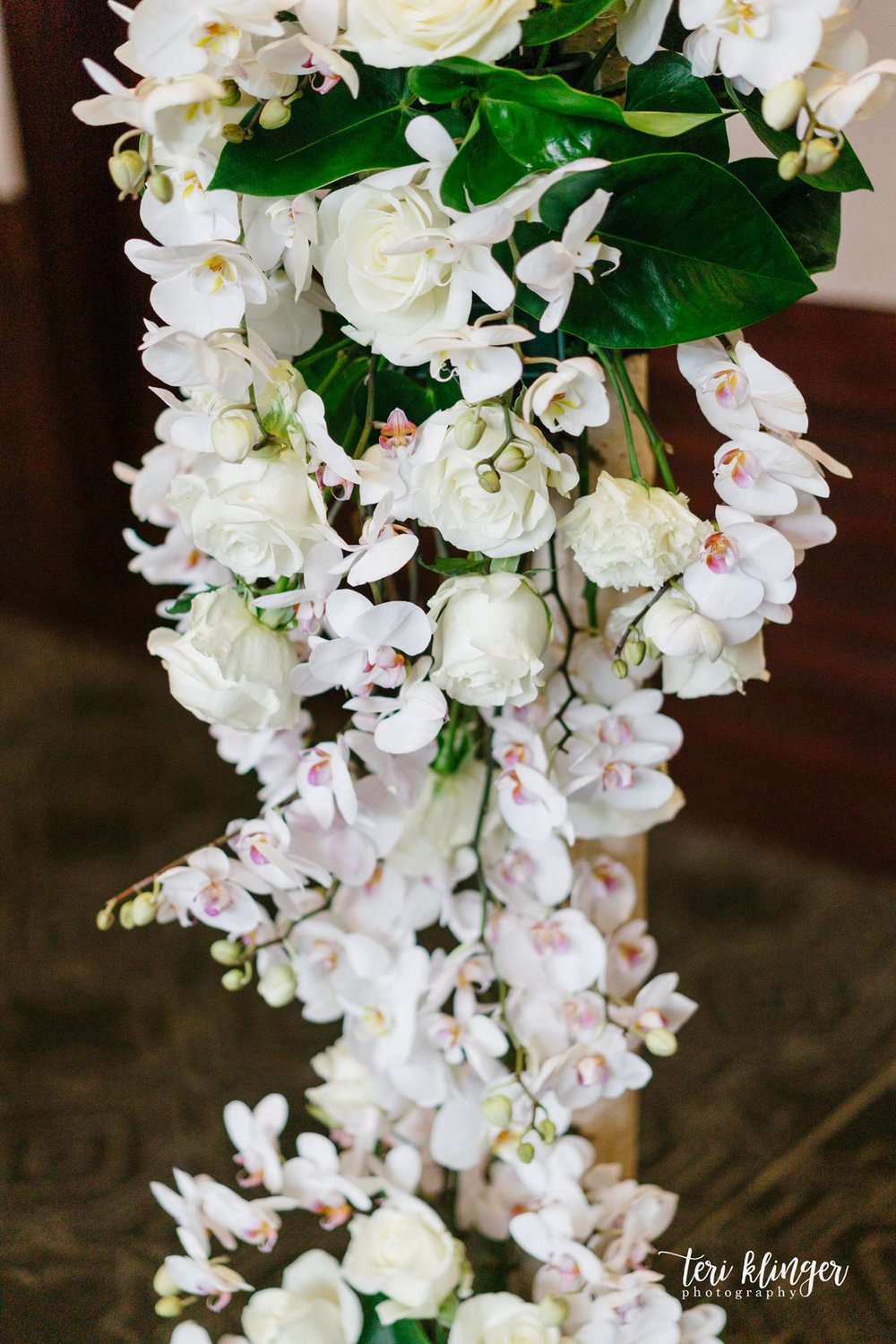 orchid wedding arbor