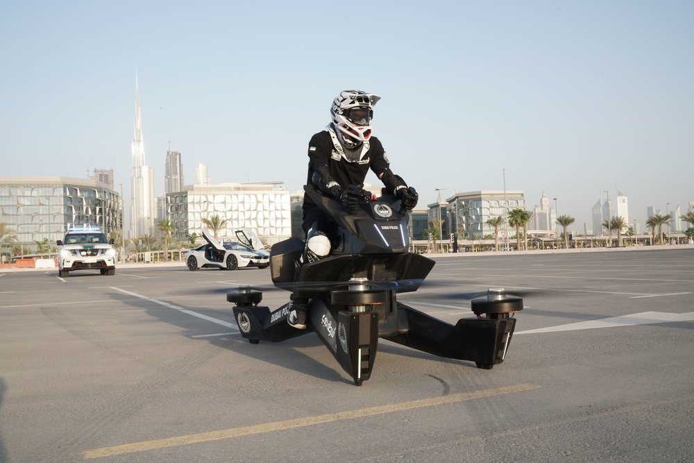 Hoversurf delivered five Hoverbikes to the Dubai Police. Courtesy: Hoversurf